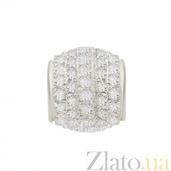 Серебряный кулон-шарм  Амели с цирконием 000013701