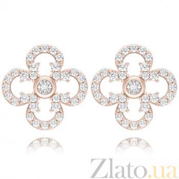 Серьги из розового золота с бриллиантами Долина грез: Праздник Жизни 4667