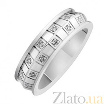 Золотое обручальное кольцо с бриллиантами Монреаль KBL--К1710/бел/брил