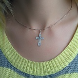 Серебряный крестик Вознесение Христа