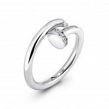 Серебряное кольцо Гвоздик с фианитами