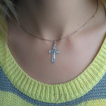 Серебряный крестик Вознесение Христа 000030708