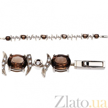 Золотой браслет с раухтопазами Миледи AUR--35016 04