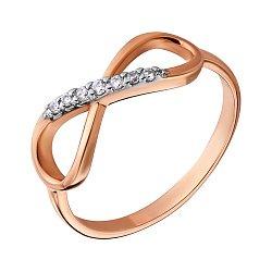 Золотое кольцо с фианитами 000036421