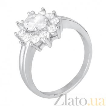Серебряное кольцо с цирконием Сафира SLX--КК2Ф/386
