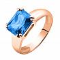 Золотое кольцо Леди Мармелад в красном цвете с топазом лондон