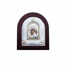 Икона Божьей Матери Казанская из серебра с позолотой