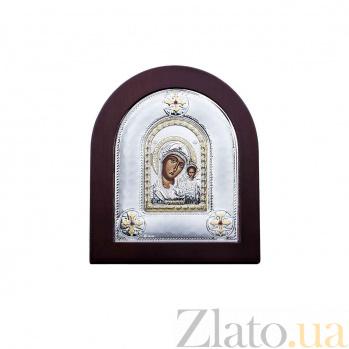 Икона Божьей Матери Казанская из серебра с позолотой AQA--MA/E2106AX