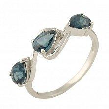 Серебряное кольцо Милада с топазом лондон