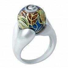 Серебряное кольцо Розанна с цветной эмалью