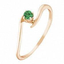 Золотое кольцо Алистея с изумрудом