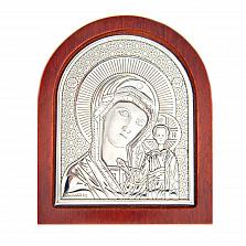 Икона серебряная Казанской Божьей Матери