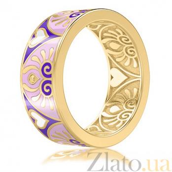 Обручальное кольцо из желтого золота с эмалью и бриллиантами Талисман: Души 3034