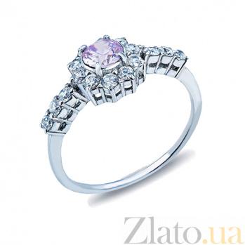 Серебряное кольцо с цирконами Азалия AQA--71529л