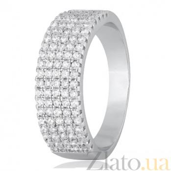 Кольцо из серебра с фианитами Одеон SLX--КК2Ф/205