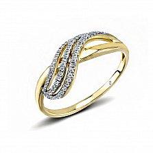 Кольцо из желтого золота Мигуэла с бриллиантами