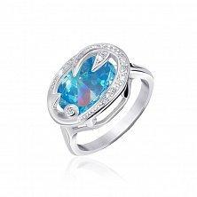 Серебряное кольцо Каталина с фианитами