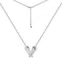 Серебряное колье Крылья ангела с фианитами