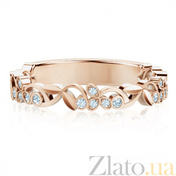 Кольцо из розового золота с бриллиантами Долина грез: Дыхание тишины 1297