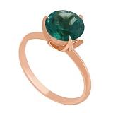 Золотое кольцо Азиза с синтезированным аметистом