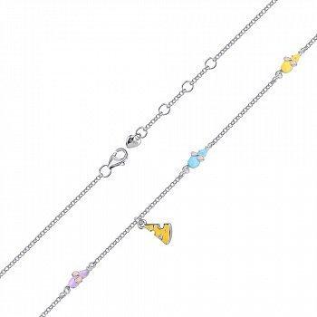 Серебряный браслет с эмалью 000145383