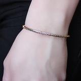 Золотой жесткий браслет Айрин с алмазной гранью