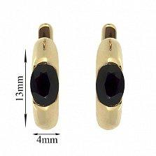 Золотые серьги Зафира с сапфирами