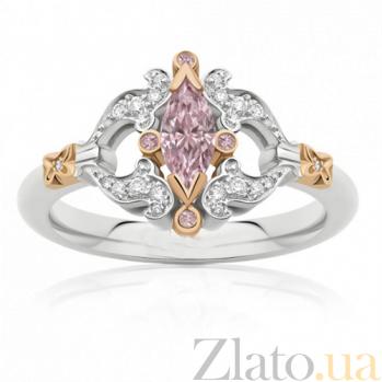 Кольцо Argile из белого и розового золота с розовыми сапфирами и бриллиантами R-cjAr-W/R-5s-26d