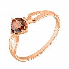 Кольцо из красного золота с шампаневым кристаллом Swarovski 000130206