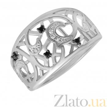 Кольцо Луна из белого золота с бриллиантами 000037581