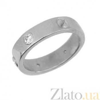 Обручальное кольцо из белого золота Модерн VLT--н1311