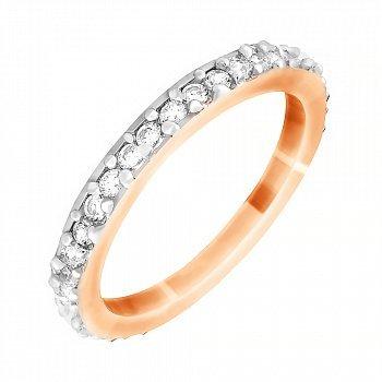 Серебряное кольцо с цирконием 000028184