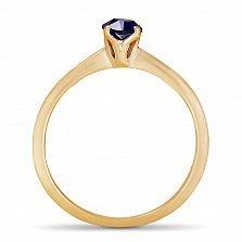 Золотое кольцо Ясмин с сапфиром огранки маркиз