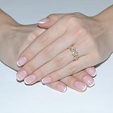 Золотое кольцо с цирконием Розочки