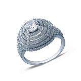 Серебряное кольцо с фианитами Эверест