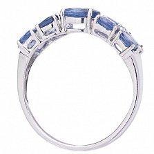 Золотое кольцо с сапфирами и бриллиантами Каризма