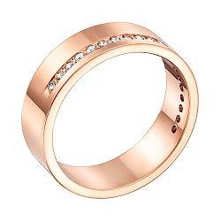 Обручальное кольцо из красного золота с бриллиантами 000136363
