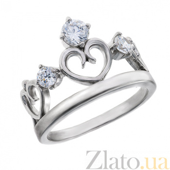 Серебряное кольцо с фианитами Диадема AUR--81508бau