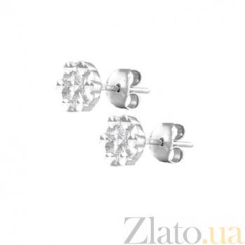 Сережки-гвоздики из серебра Шерис SLX--С2/385