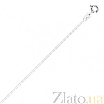 Серебряная цепь Нить любви с родированием, 55 см, 1 мм 000026270