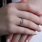 Серебряное  кольцо покрытое родием Нежность
