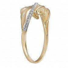 Кольцо Ева из желтого золота с бриллиантами