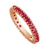 Кольцо из красного золота с рубинами Феерверк