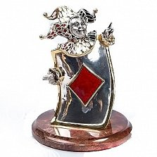 Серебряная статуэтка Карта Бубна