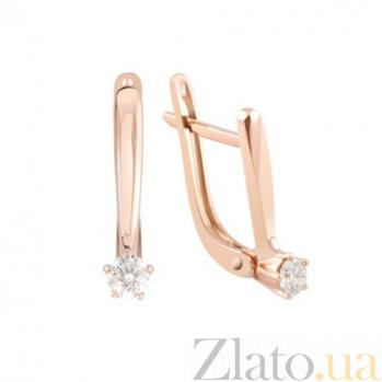 Золотые серьги с бриллиантами Илона KBL--С2410/крас/брил