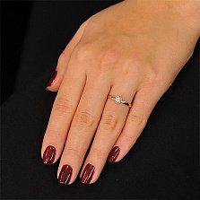 Кольцо из красного золота Дамиани с кристаллом Swarovski