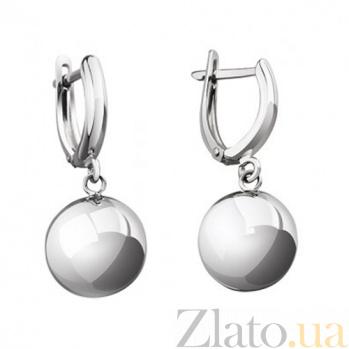 Серебряные серьги Шар диаметр 10мм LEL--86016