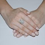 Серебряное кольцо Фиалка