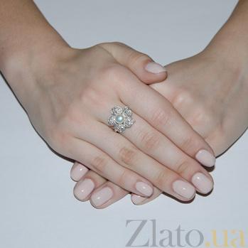 Серебряное кольцо Фиалка BGS--219к ж