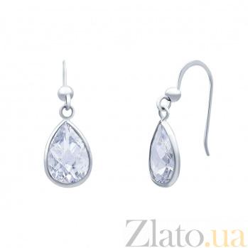 Серебряные серьги Теона AQA--220550065/8
